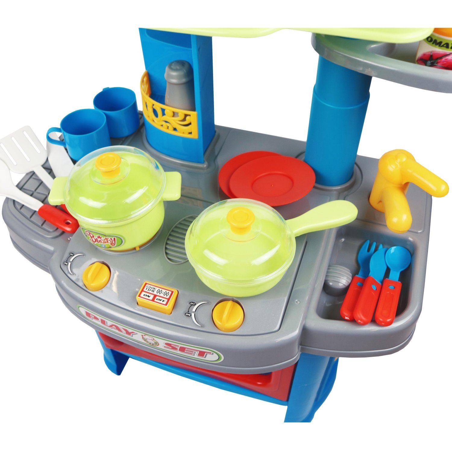 Electronic Kitchen Set: Childrens Kids Roleplay Electronic Kitchen Cooking Playset