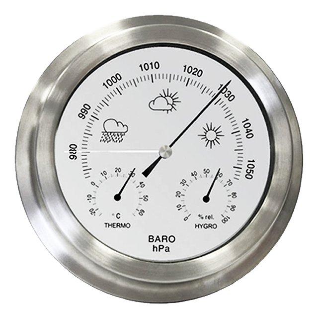 Indoor Outdoor Barometer Weather Station Stainless Steel