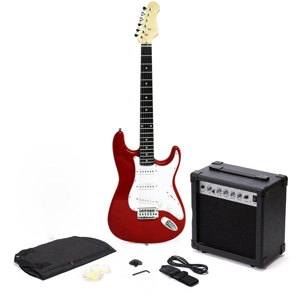 new st 6 string full size electric guitar set with 10w amp ebay. Black Bedroom Furniture Sets. Home Design Ideas