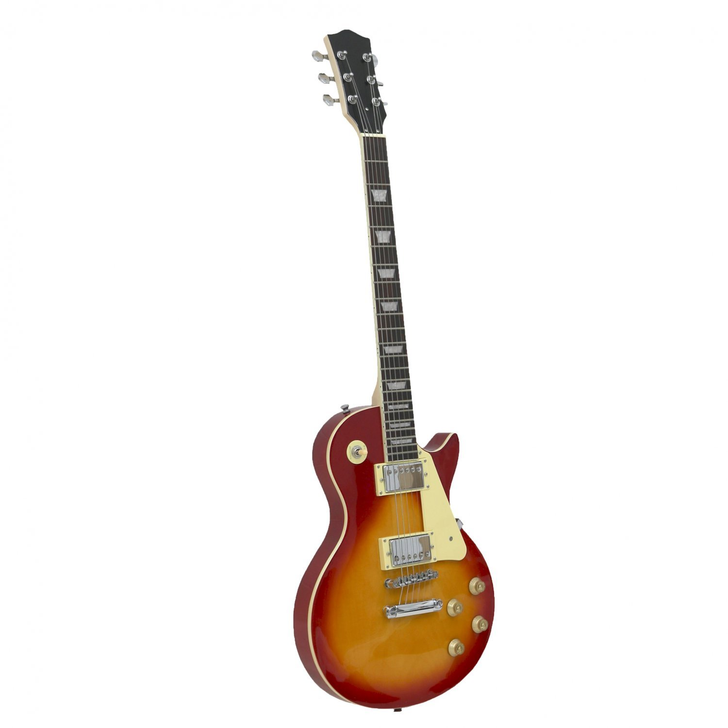 sunburst 6 string full sized electric guitar oypla stocking the very best in toys. Black Bedroom Furniture Sets. Home Design Ideas
