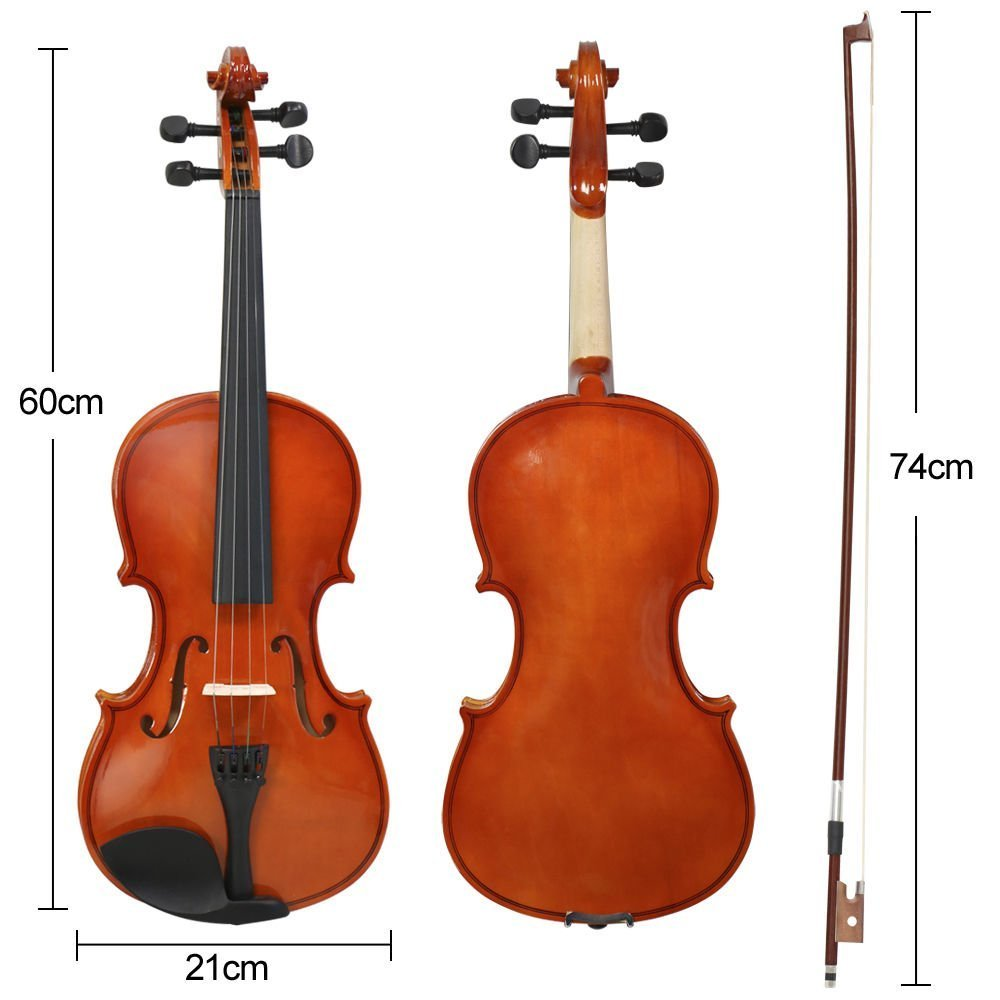 Full Size 4/4 Acoustic Violin Set With Case, Bow & Rosin - £36.99 ...