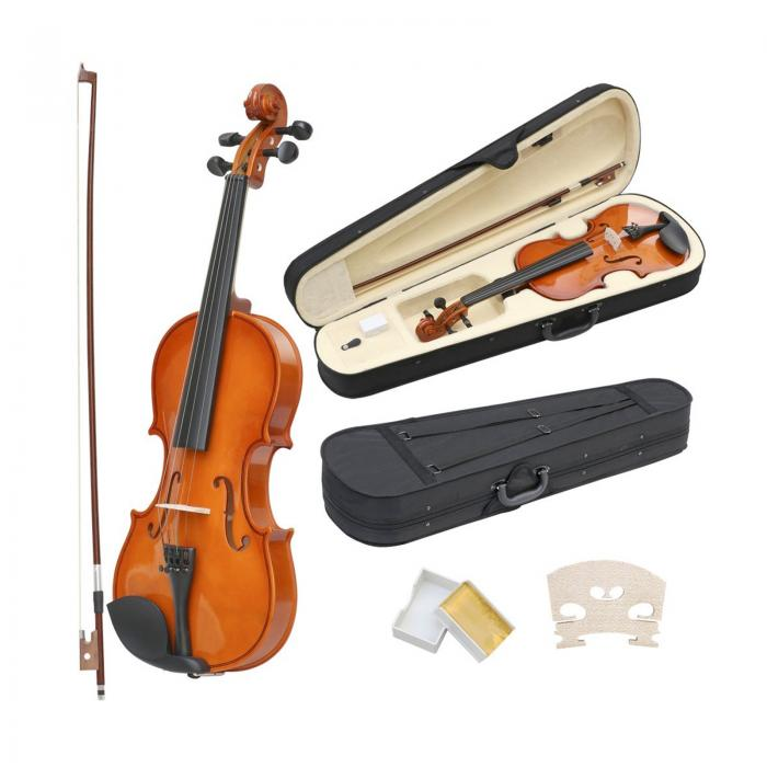 full size 4 4 acoustic violin set with case bow rosin oypla stocking the very. Black Bedroom Furniture Sets. Home Design Ideas