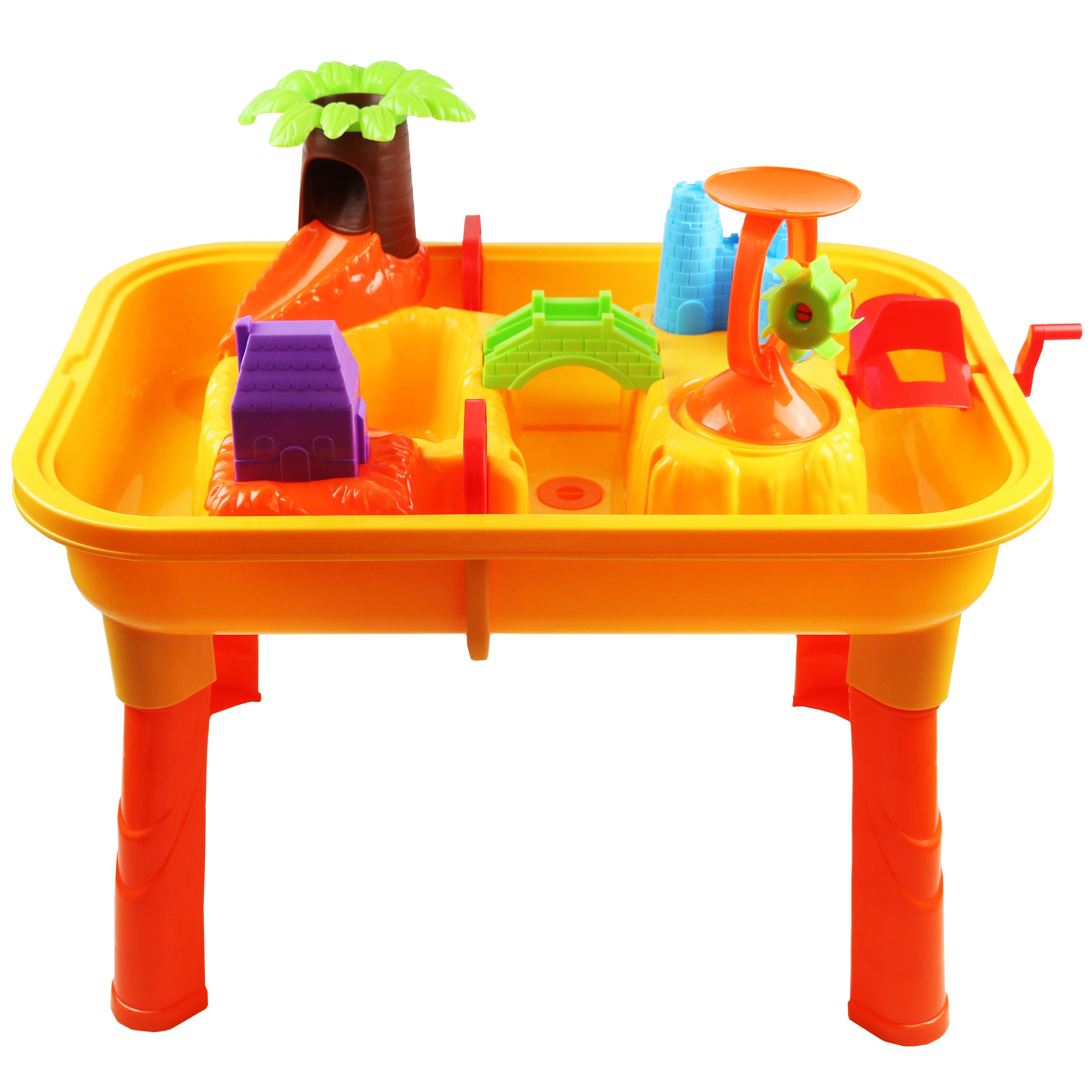 Toys For Water : Toddlers kids childrens sand water table toy with