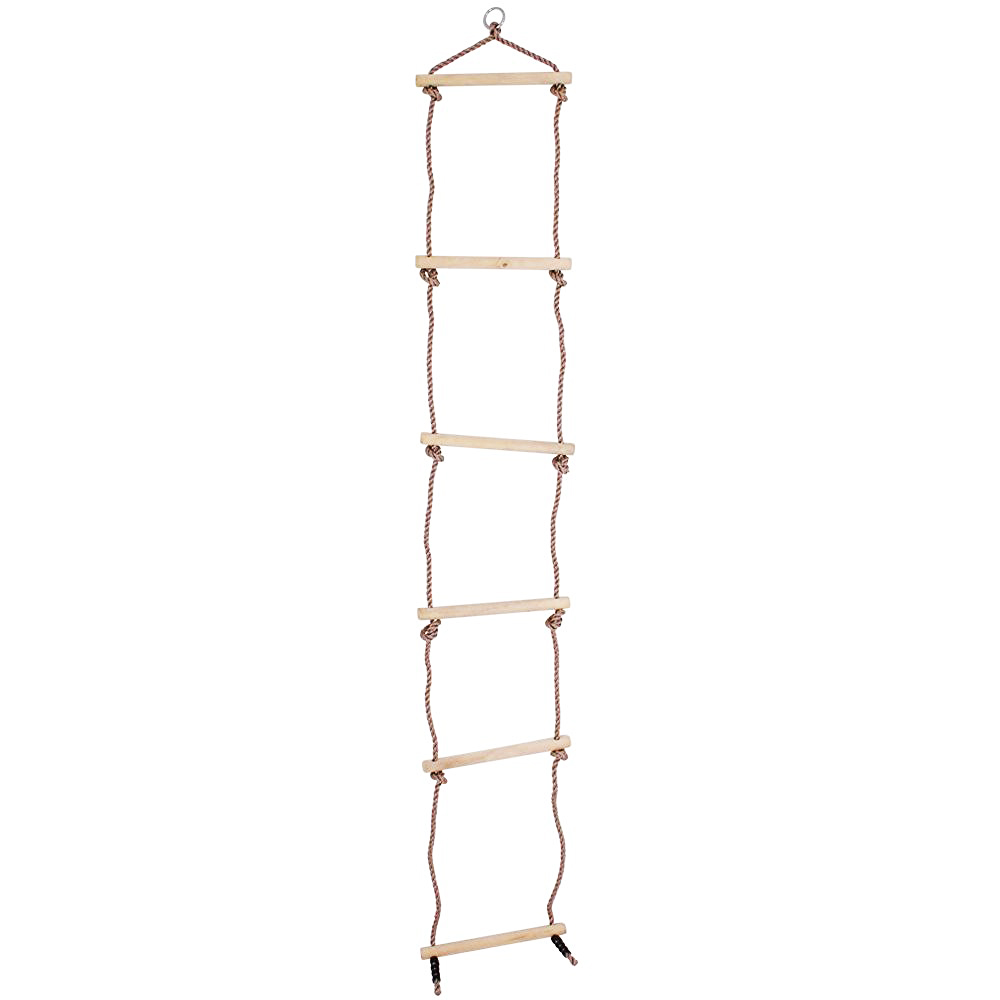Childrens Outdoor Garden Play Rope Ladder 6 Rung Climbing