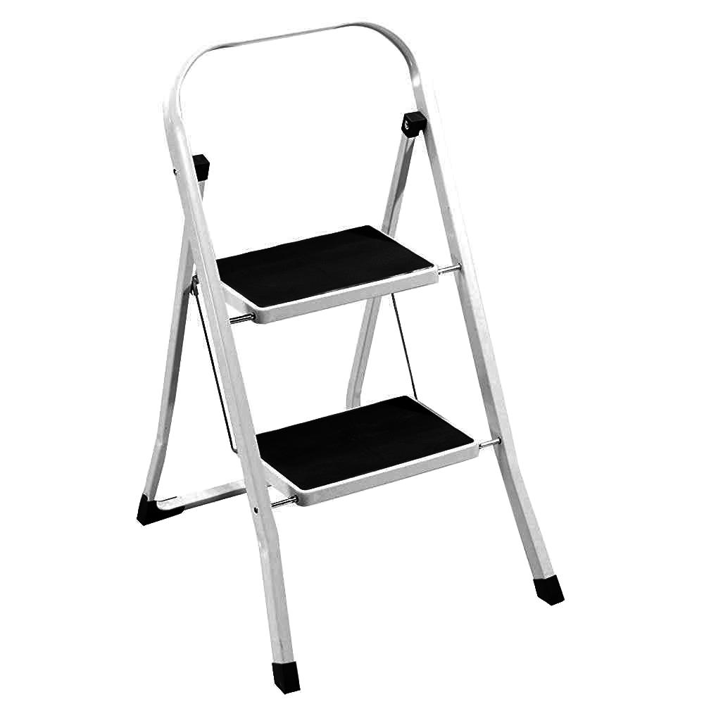 Foldable 2 Step Ladder Stepladder Non Slip Tread Safety