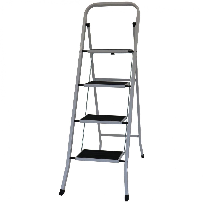 Foldable 4 Step Ladder Stepladder Non Slip Tread Safety
