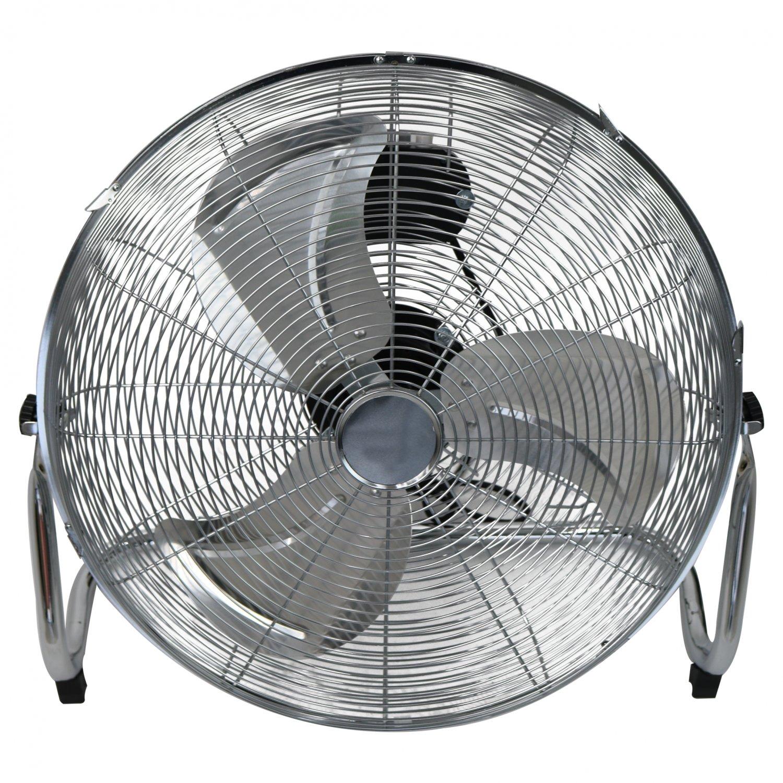 20 Inch 50cm Chrome Floor Standing Gym Fan Air Circulator