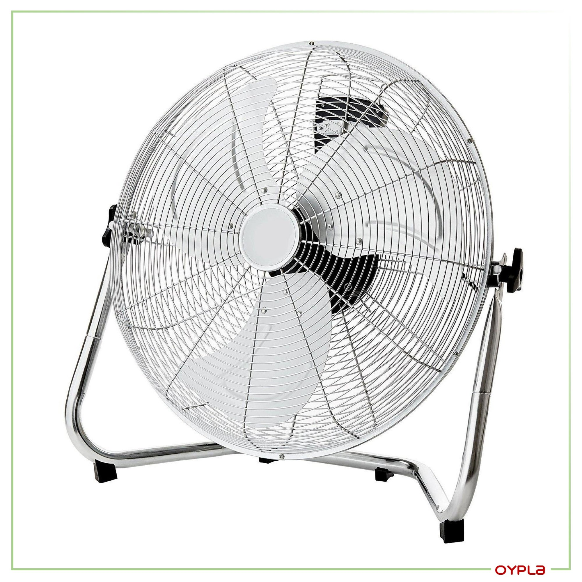 20 Inch Floor Fan : Inch cm chrome floor standing gym fan air circulator