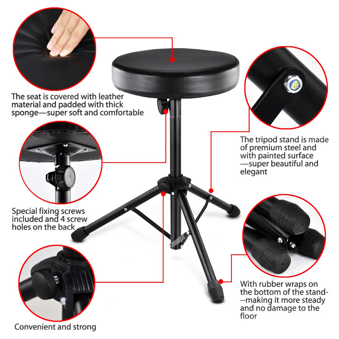 ... Foldable Drum Stool Throne Chair Seat Music Piano Keyboard ...  sc 1 st  Oypla & Foldable Drum Stool Throne Chair Seat Music Piano Keyboard ... islam-shia.org