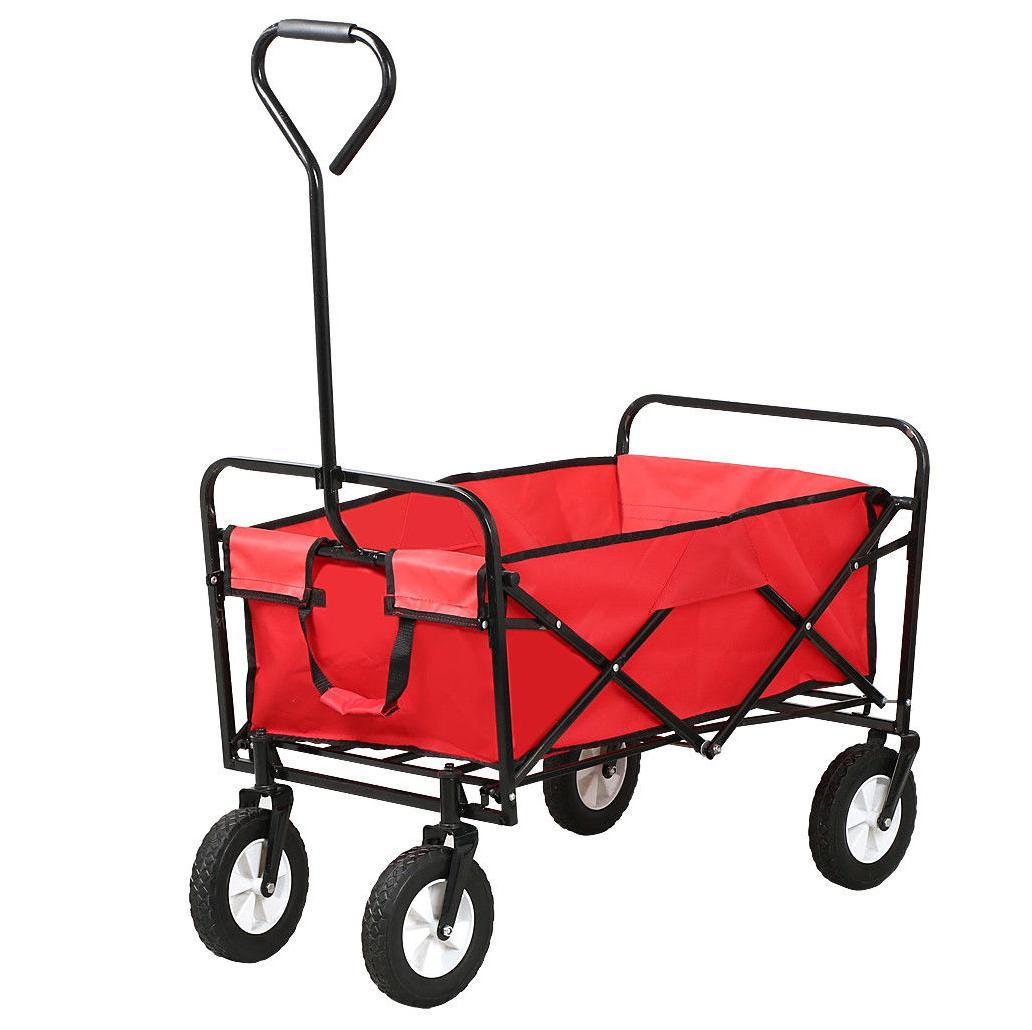 New Heavy Duty Foldable Garden Trolley Cart Wagon Truck