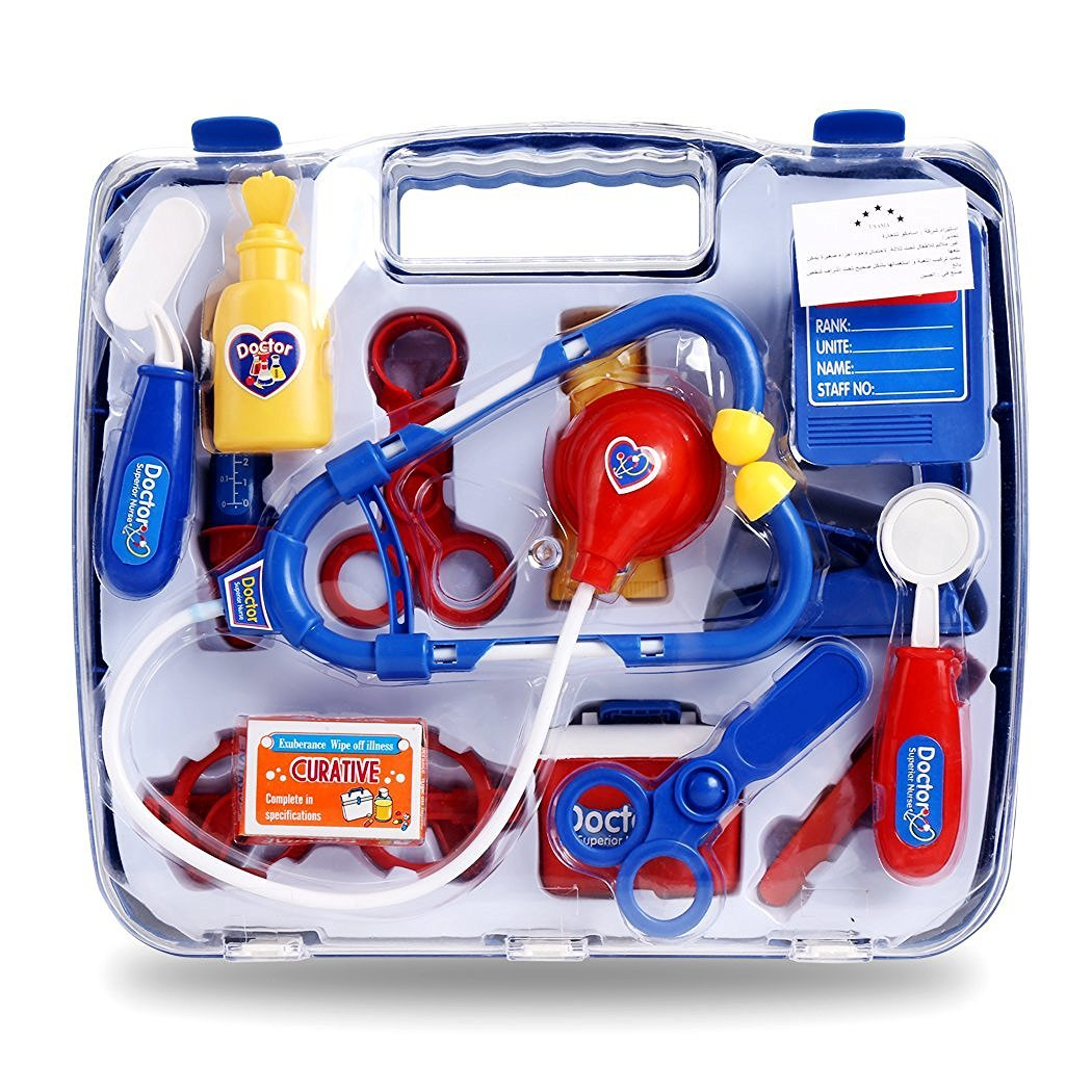 Toy Medical Kit : Blue childrens kids role play doctor nurses toy set