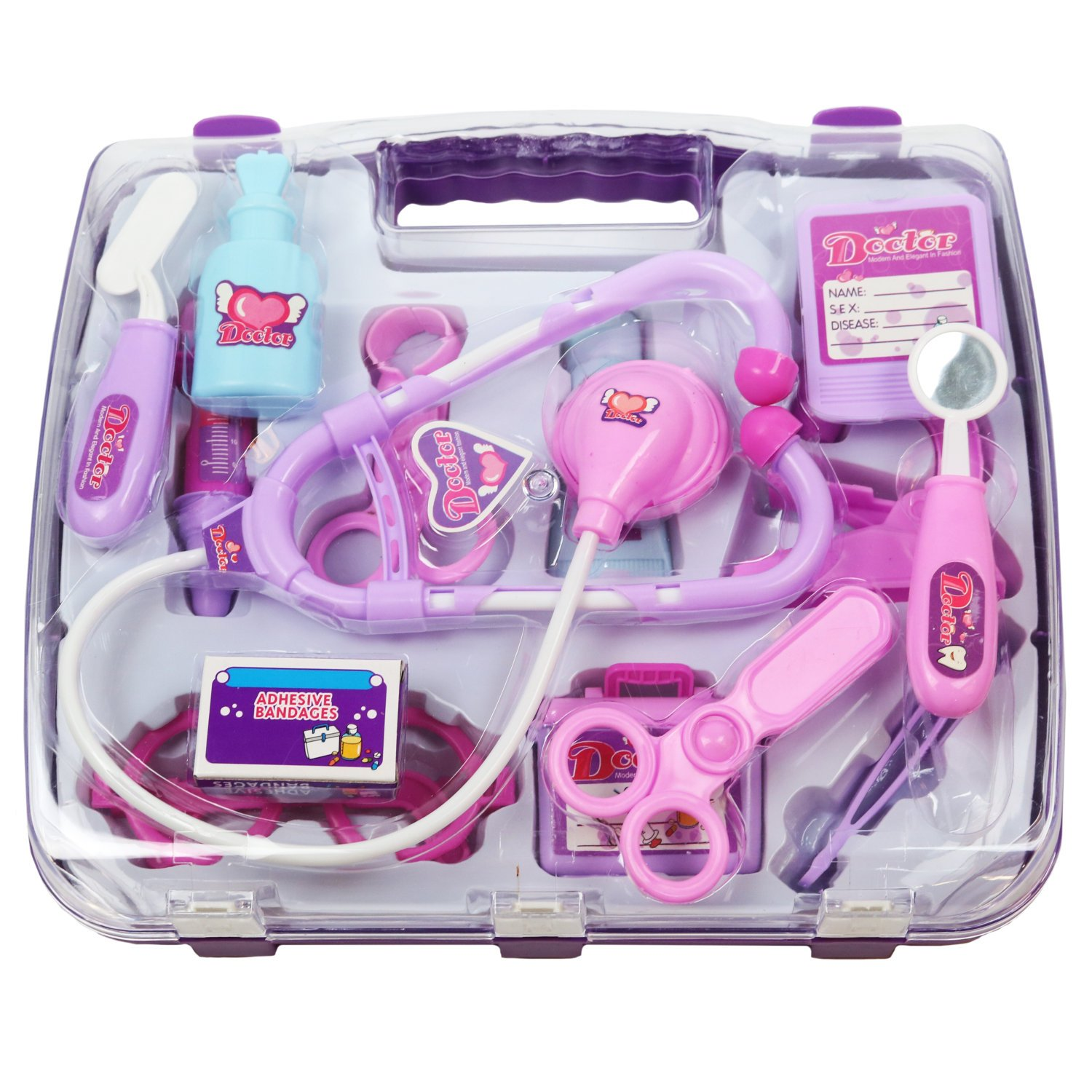 Toy Medical Kit : New pink childrens kids role play doctor nurses toy set