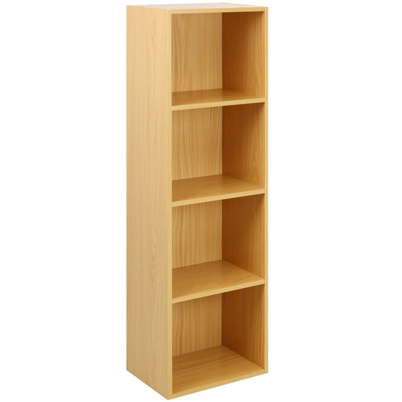 Hard-Working Bookshelf 4 Tiers Storage Shelf Unit Bookshelf Bookcase Book Storage Display Rack Home
