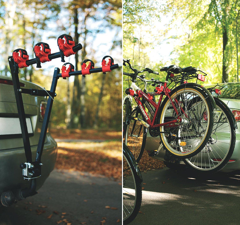 Universal 3 Bike Bicycle Tow Bar Car Mount Rack Stand