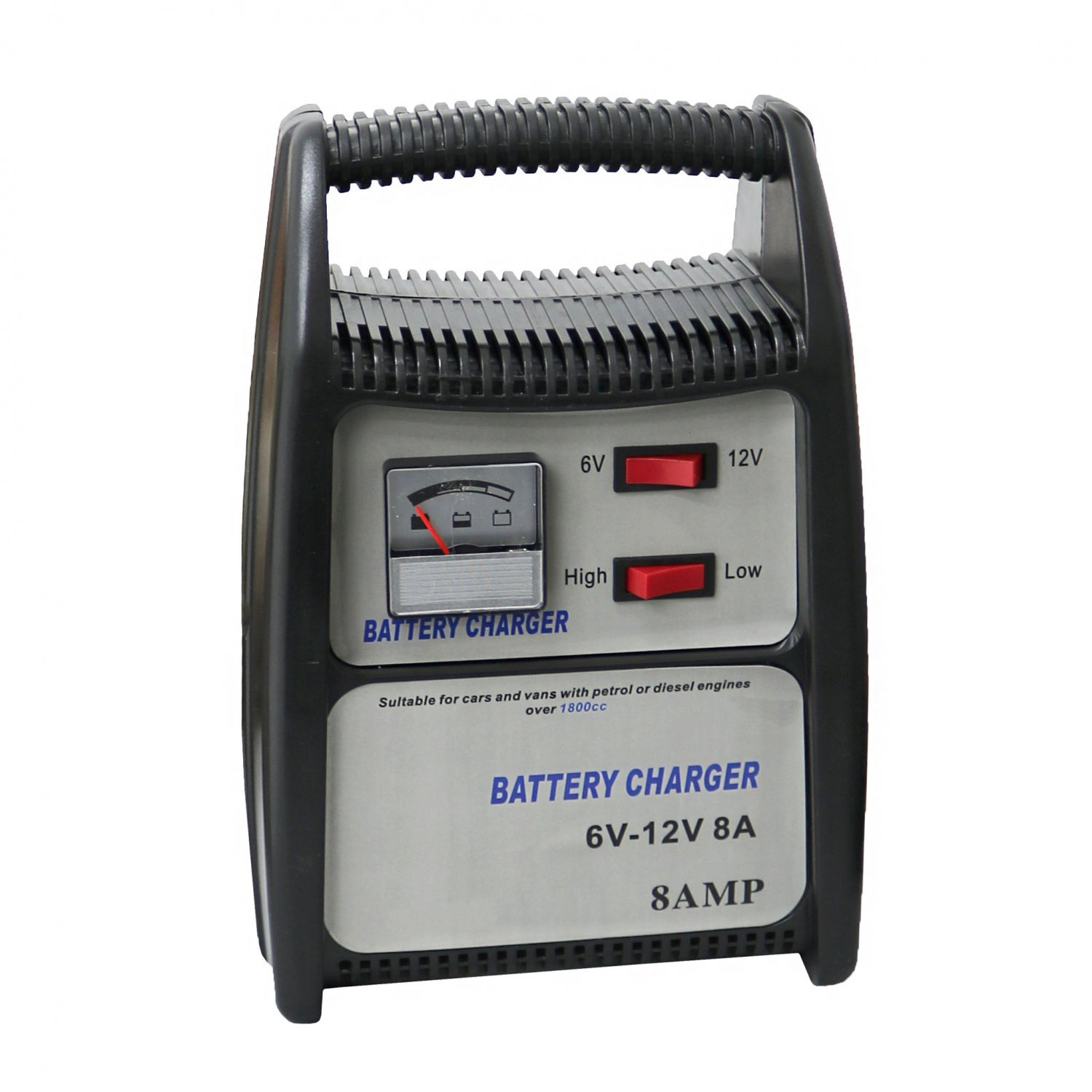 8a 12v Compact Portable Car Van Vehicle Battery Charger