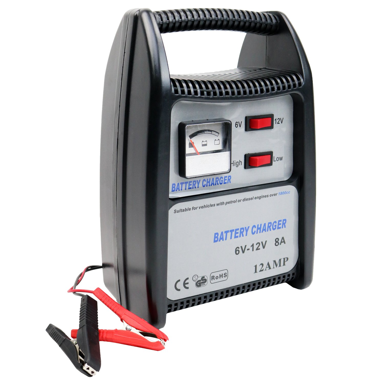 Small Car Battery : A v compact portable car van vehicle battery charger