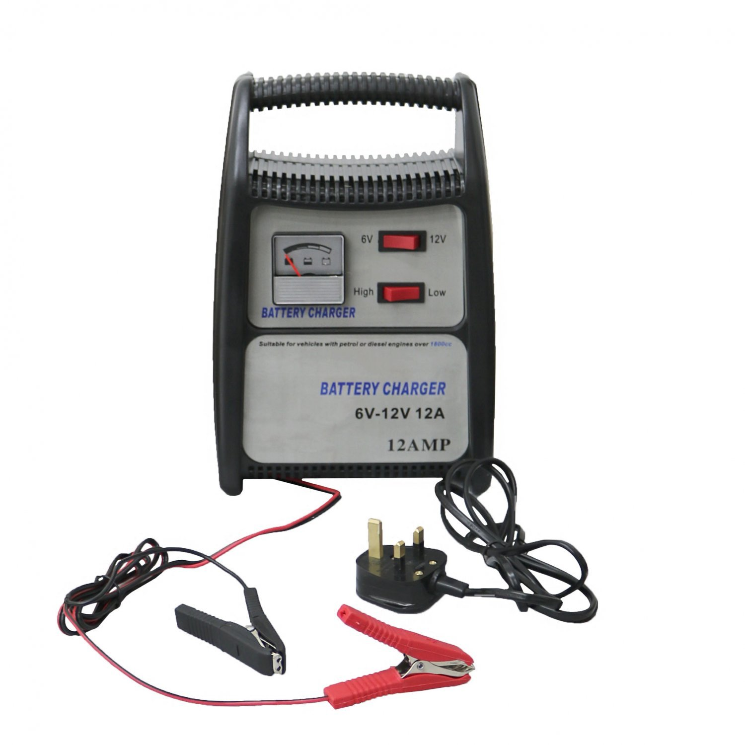 12A 12V Compact Portable Car Van Vehicle Battery Charger