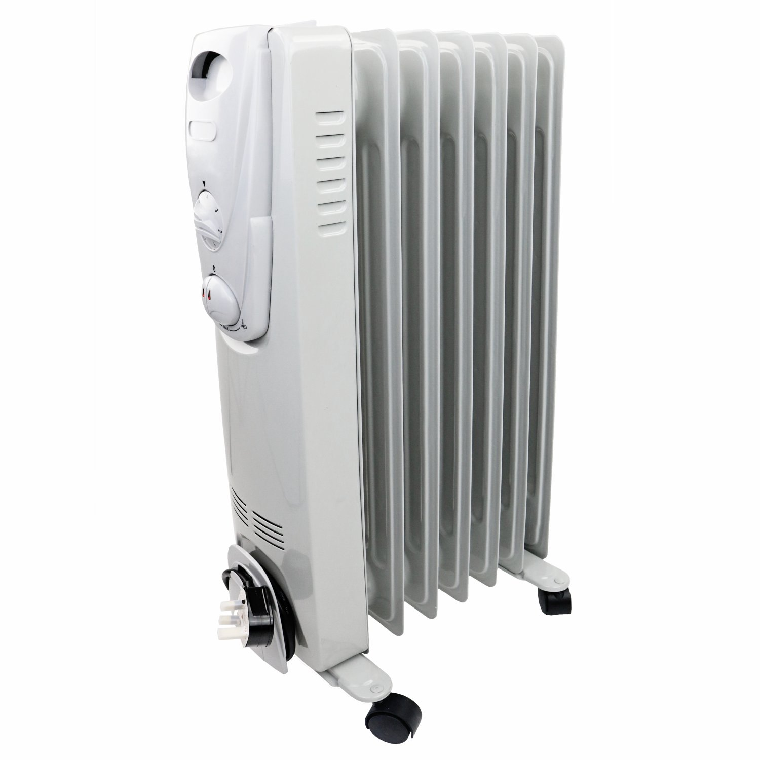 ... 1500W 7 Fin Portable Oil Filled Radiator Electric Heater ...