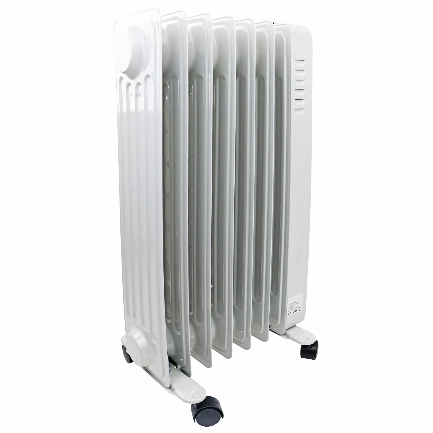1500w 7 Fin Portable Oil Filled Radiator Electric Heater