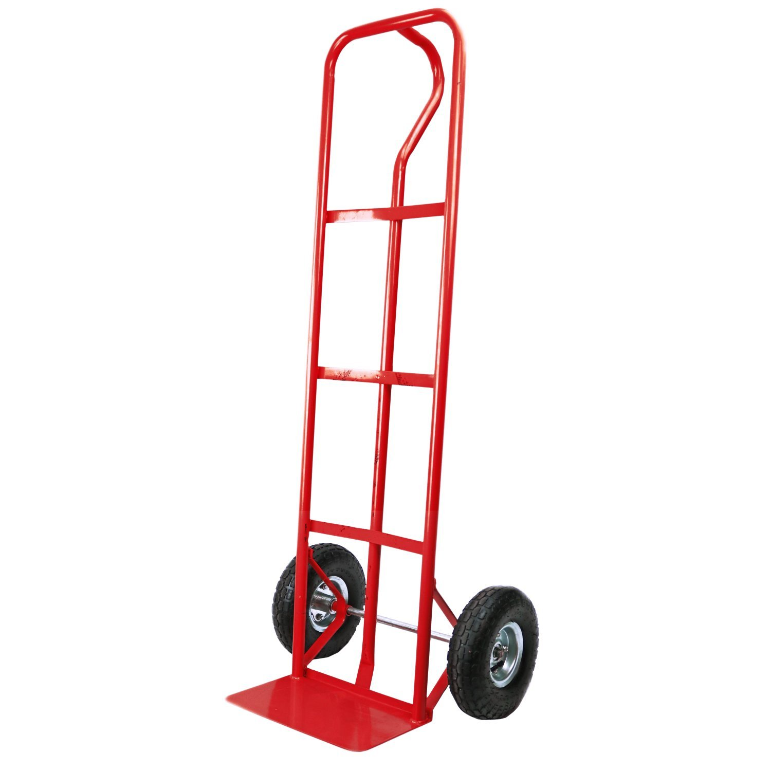 600lb industrial heavy duty hand trolley sack truck red for Industrial garden tools