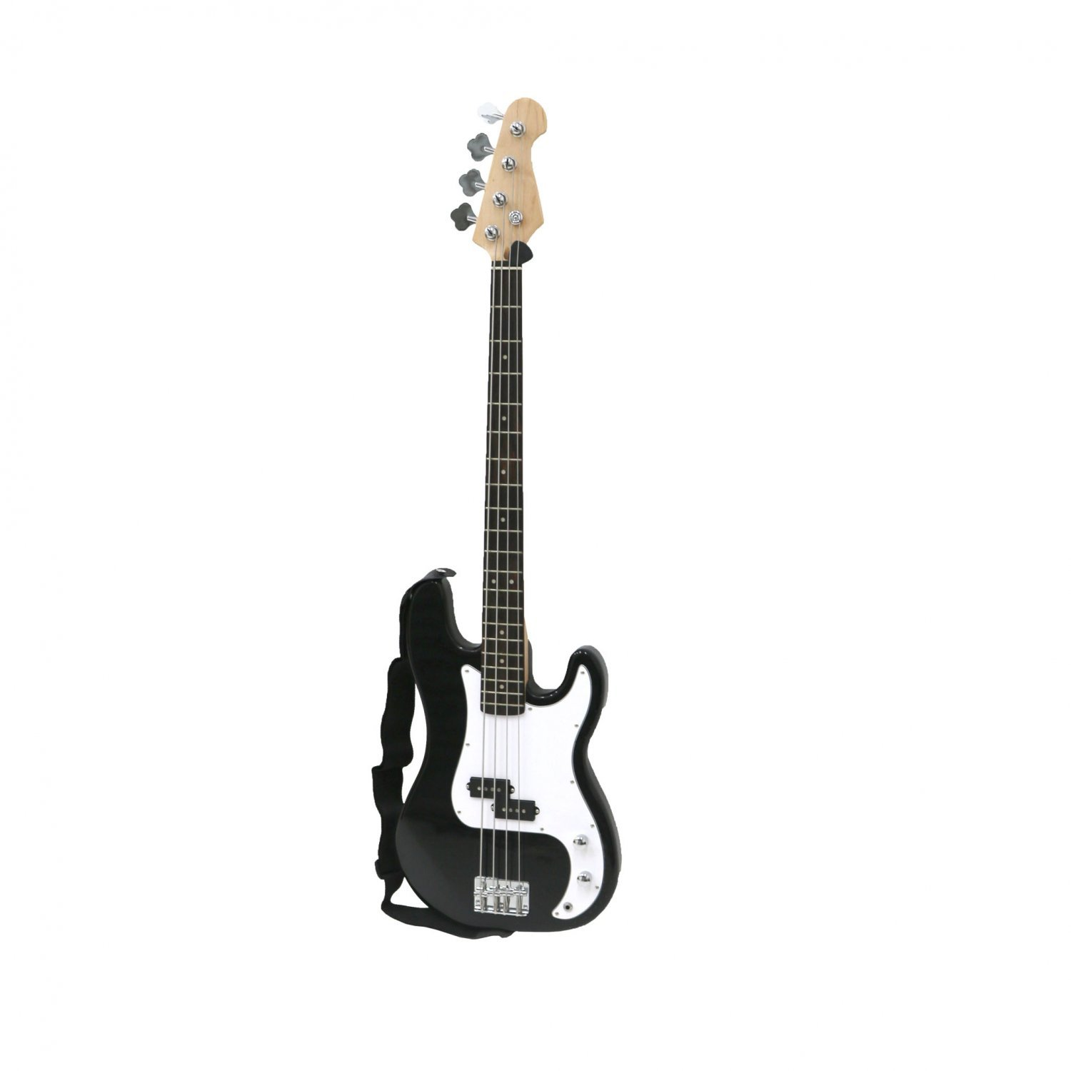pb precision style black 4 string electric bass guitar oypla stocking the very best. Black Bedroom Furniture Sets. Home Design Ideas