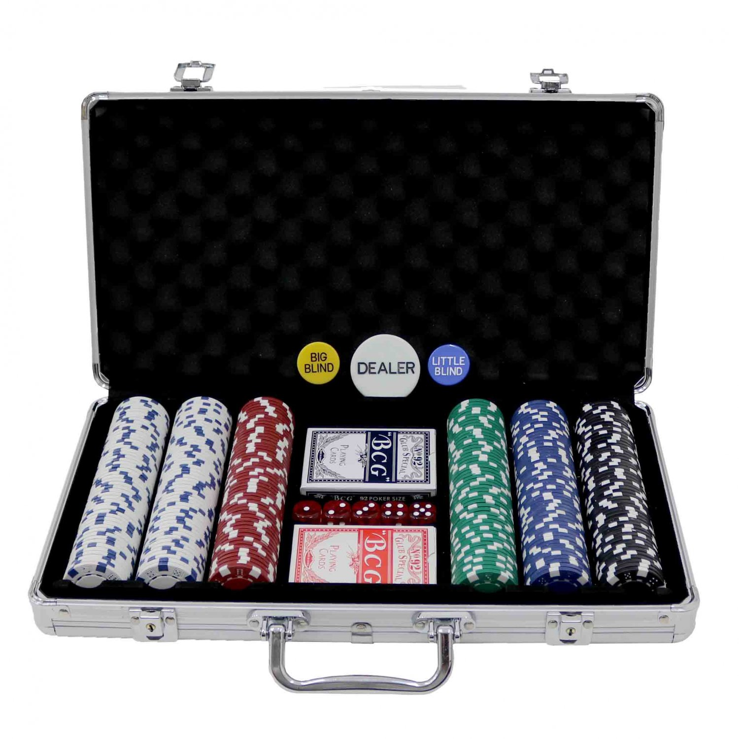 Poker Set - 300 Piece Complete With Casino Style Case - £