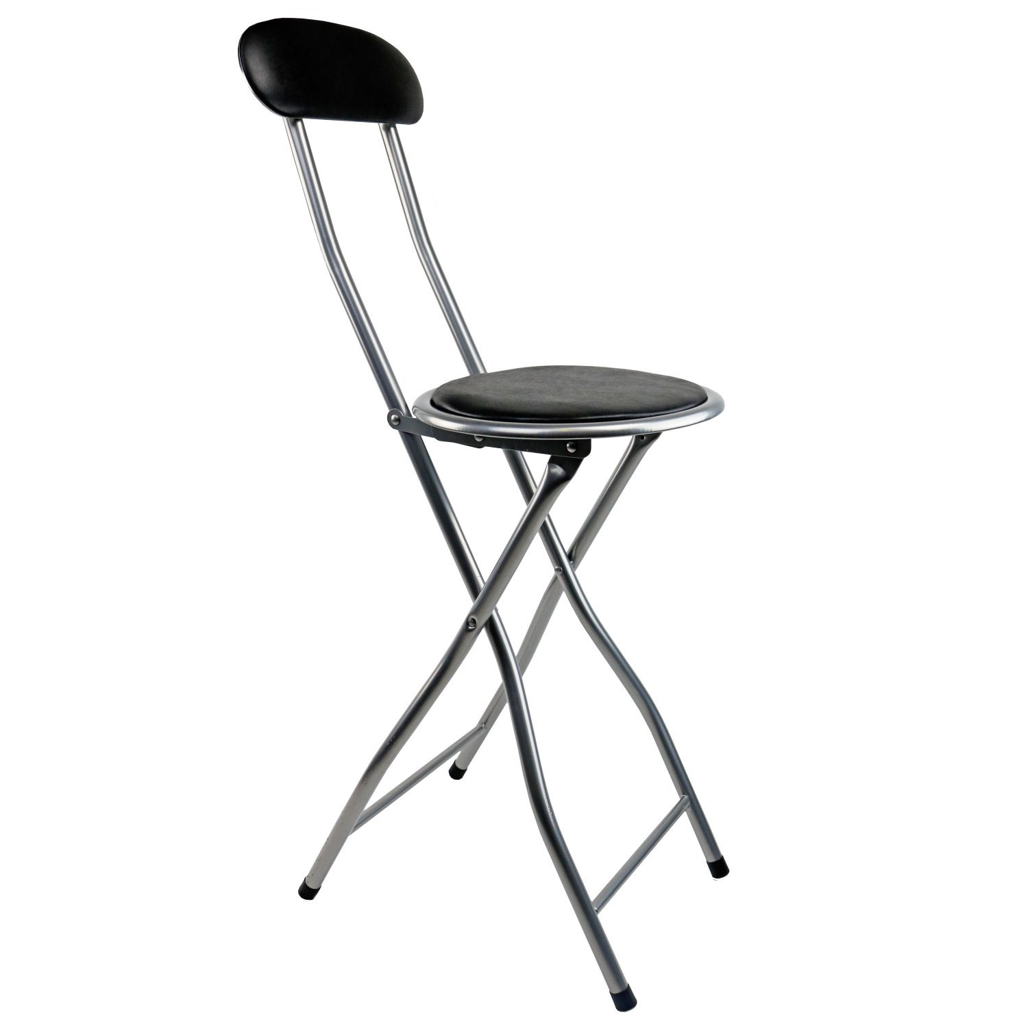 Black Padded Folding High Chair Breakfast Kitchen Bar Stool Seat Oypla Stocking The