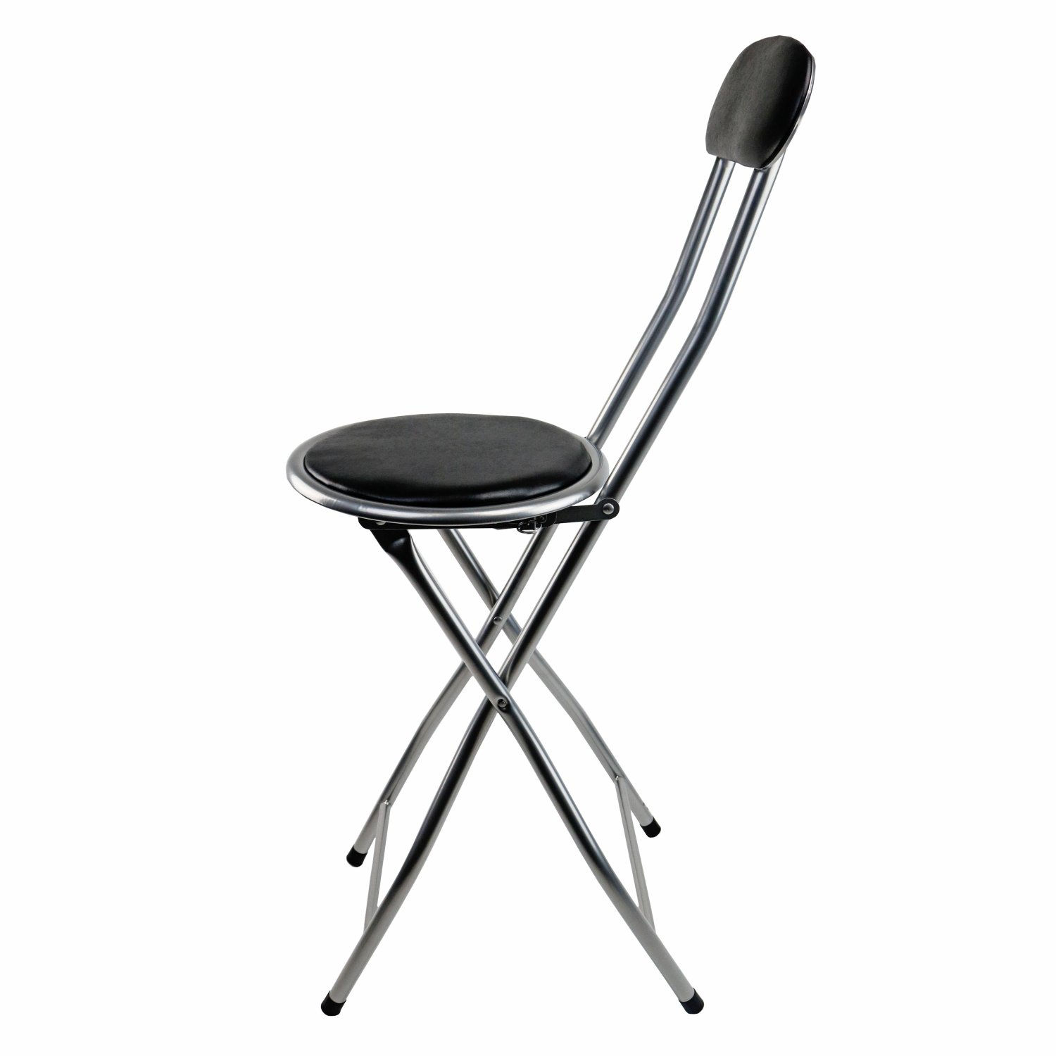 Black Kitchen Bar Stools Uk: NEW! BLACK PADDED Folding High Chair Breakfast Kitchen Bar