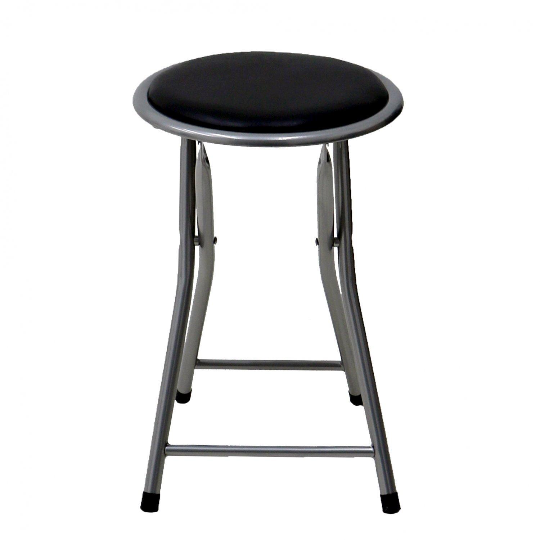 Kitchen Stools Uk Only: Black Padded Folding Breakfast Kitchen Bar Stool Seat