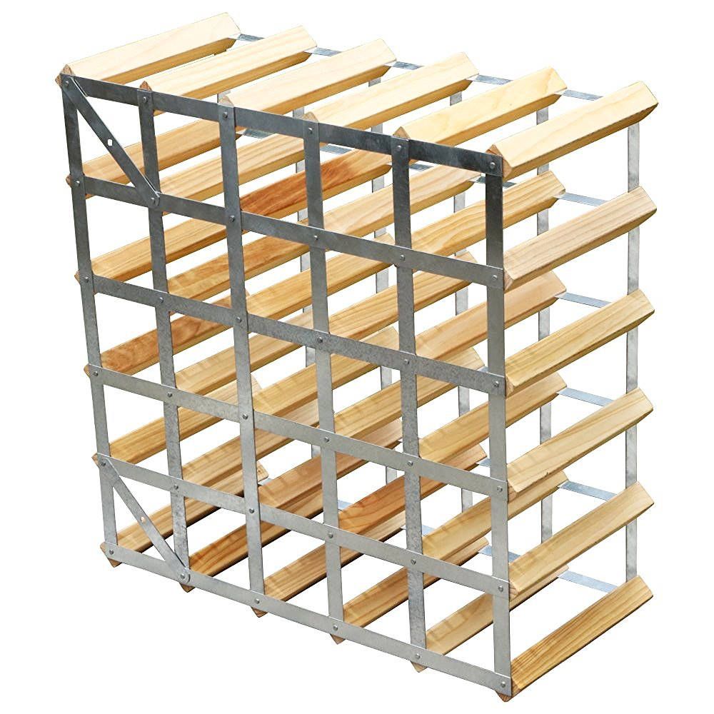 30 bottle wall mountable wine storage rack