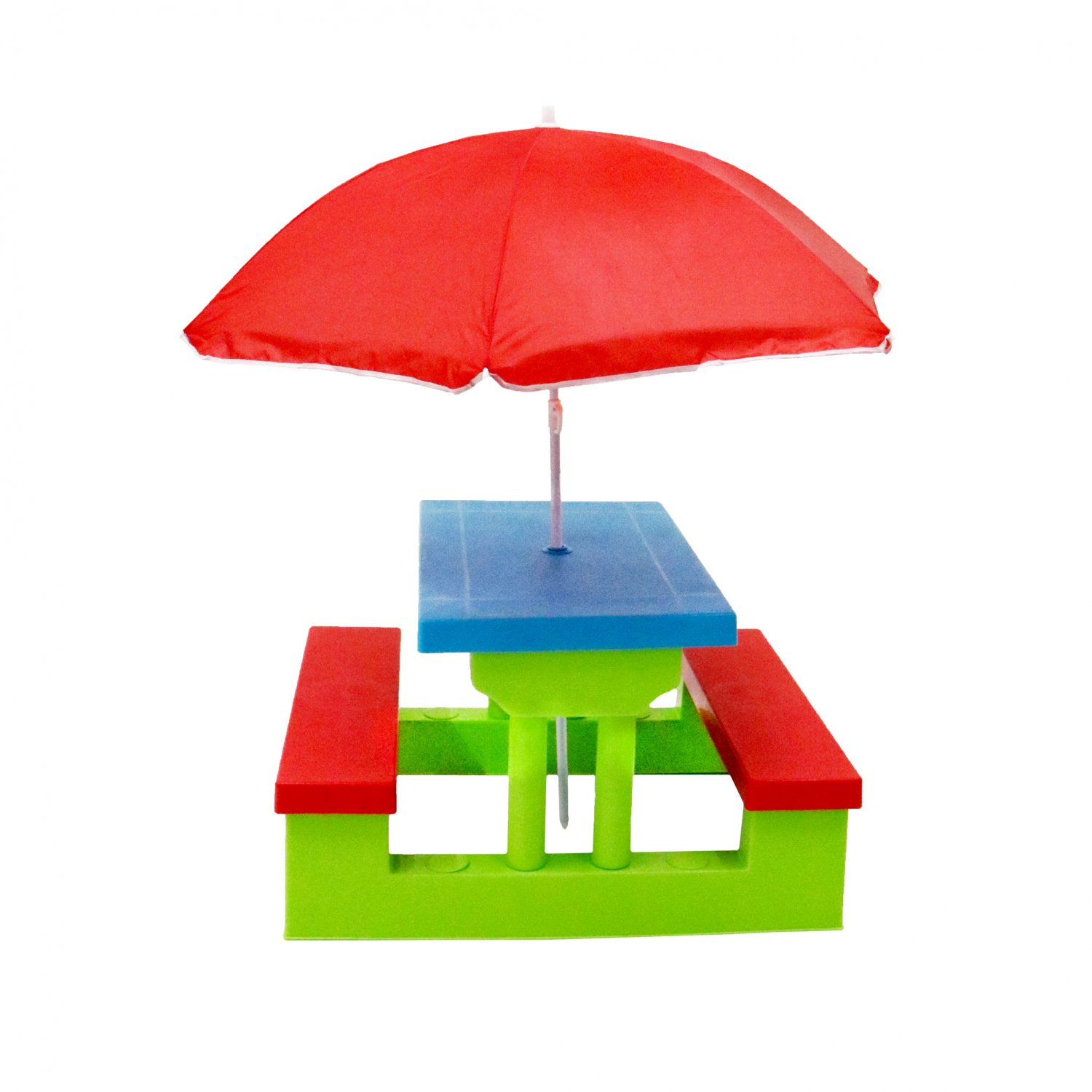 kids childrens picnic bench table outdoor furniture with parasol