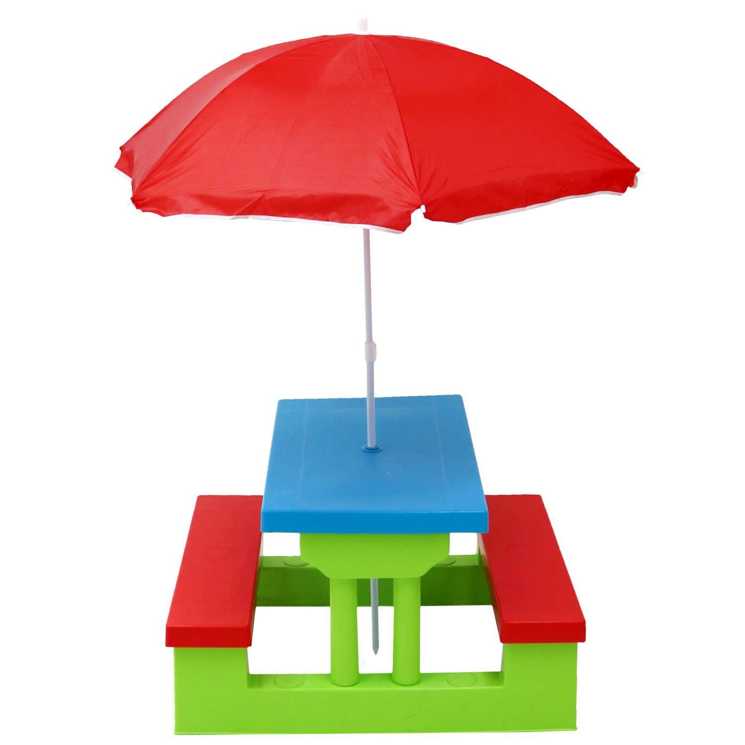 - Kids Childrens Picnic Bench Table Outdoor Furniture With Parasol