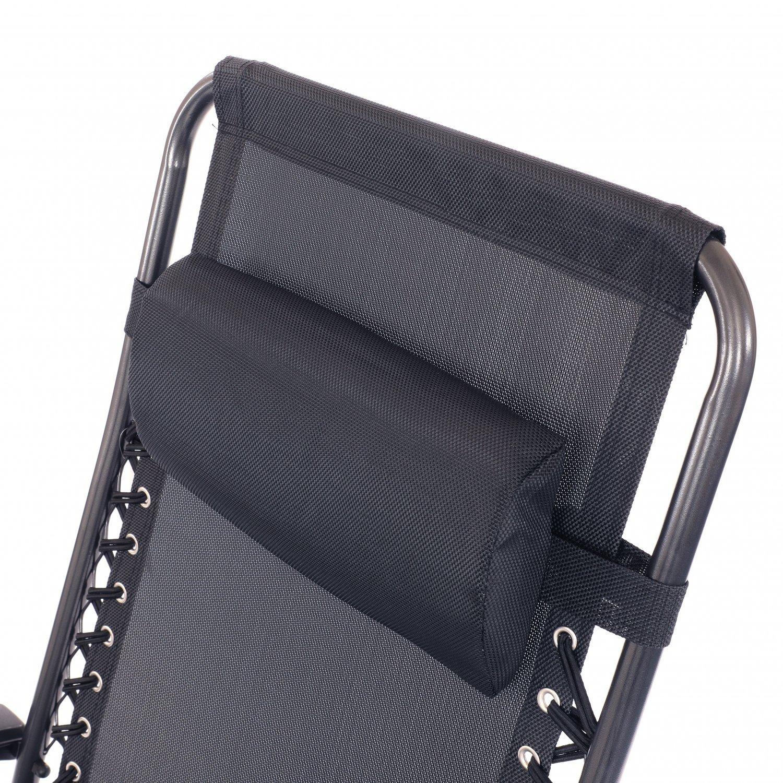 ... Folding Reclining Garden Deck Chair Sun Lounger Zero Gravity
