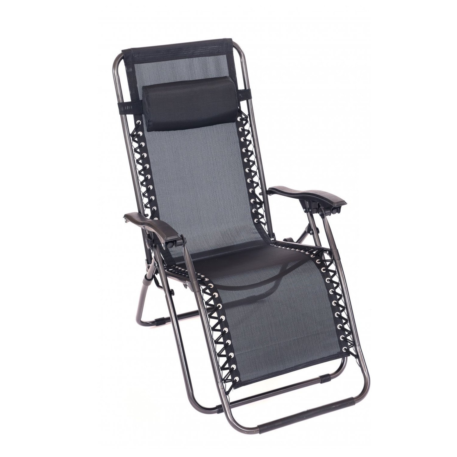 Shopping with Oypla  sc 1 st  Oypla & Folding Reclining Garden Deck Chair Sun Lounger Zero Gravity ...