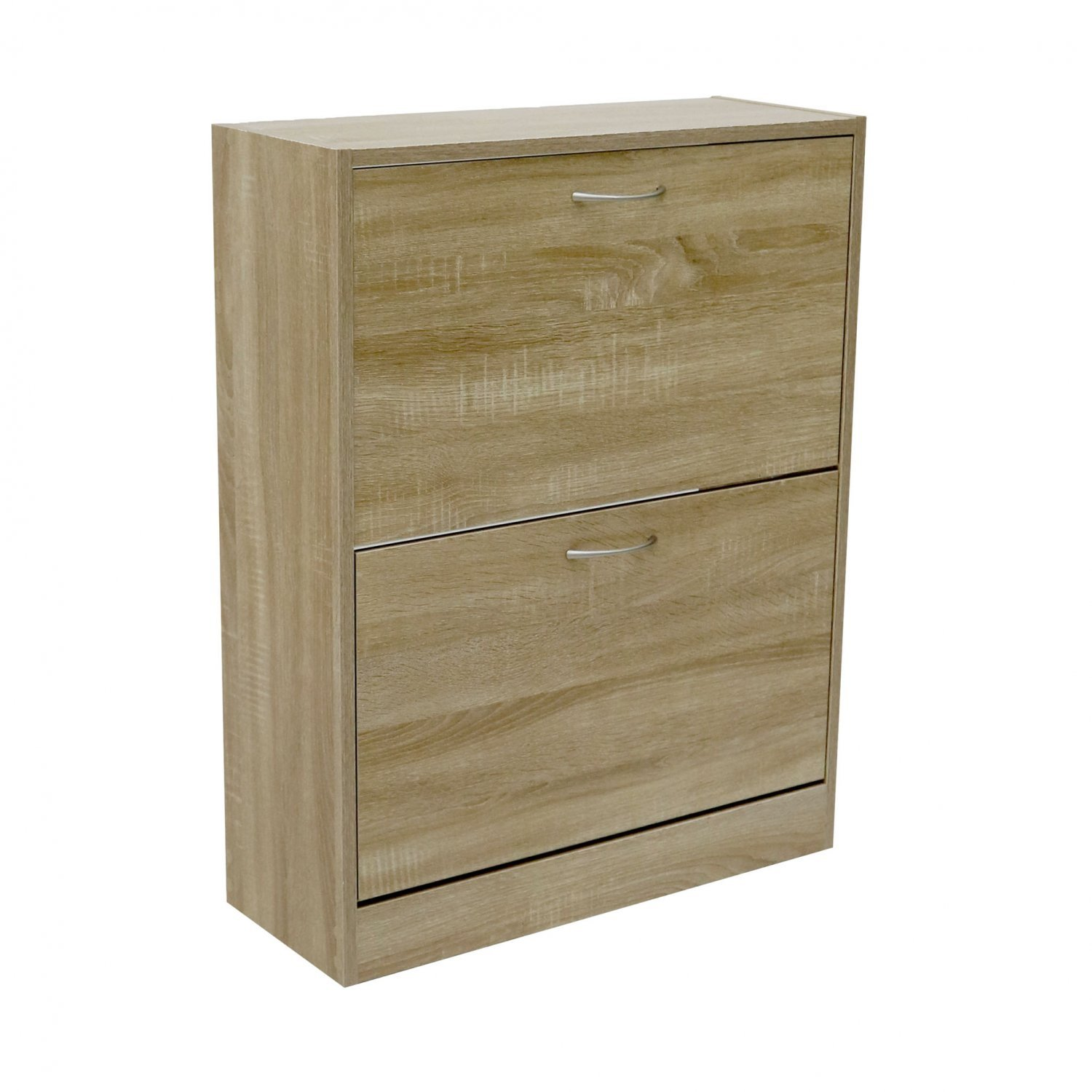 Oak Effect Kitchen Cabinets: 2 Drawer Oak Effect Shoe Storage Cupboard Cabinet