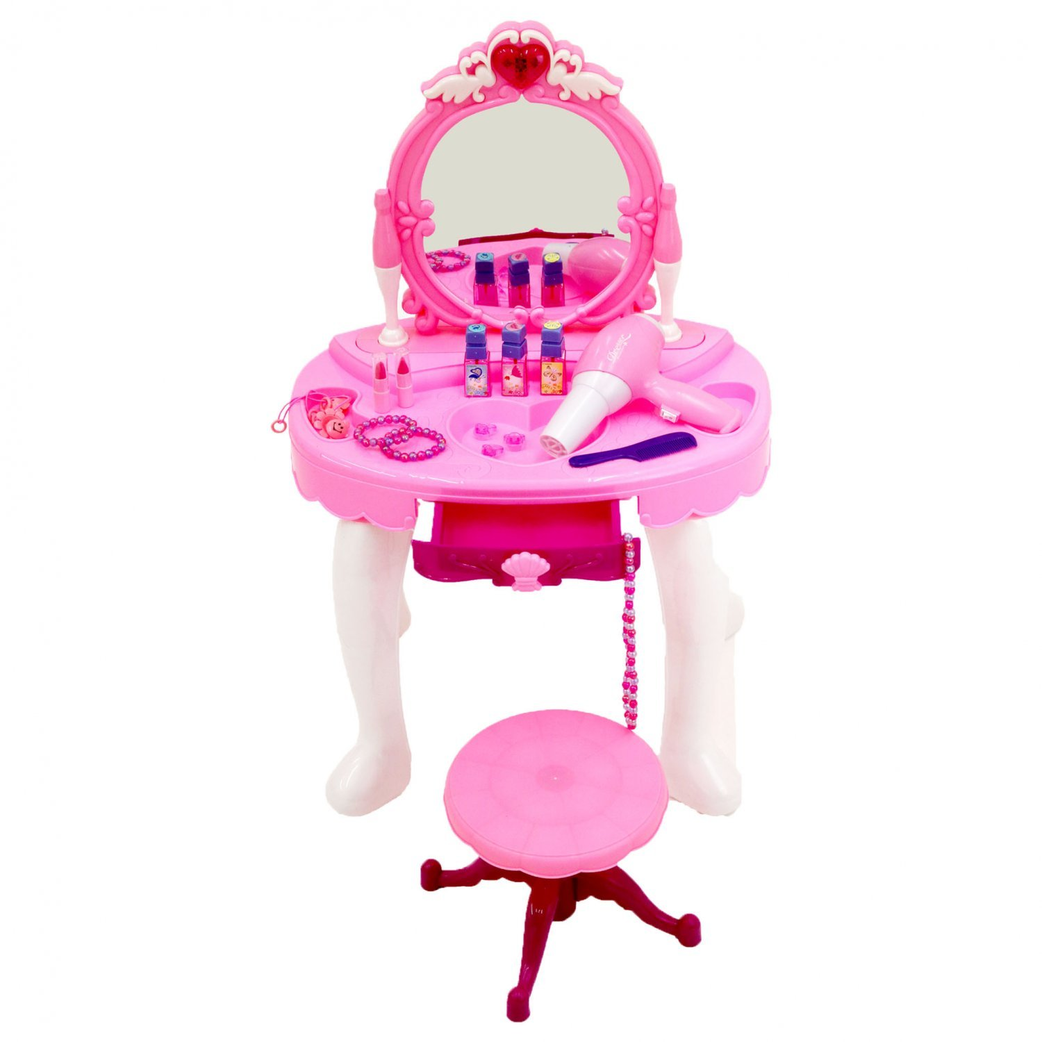 Childrens Kids Girls Play Toy Dressing Table Glamour Mirror 163 19 99 Oypla Stocking The Very