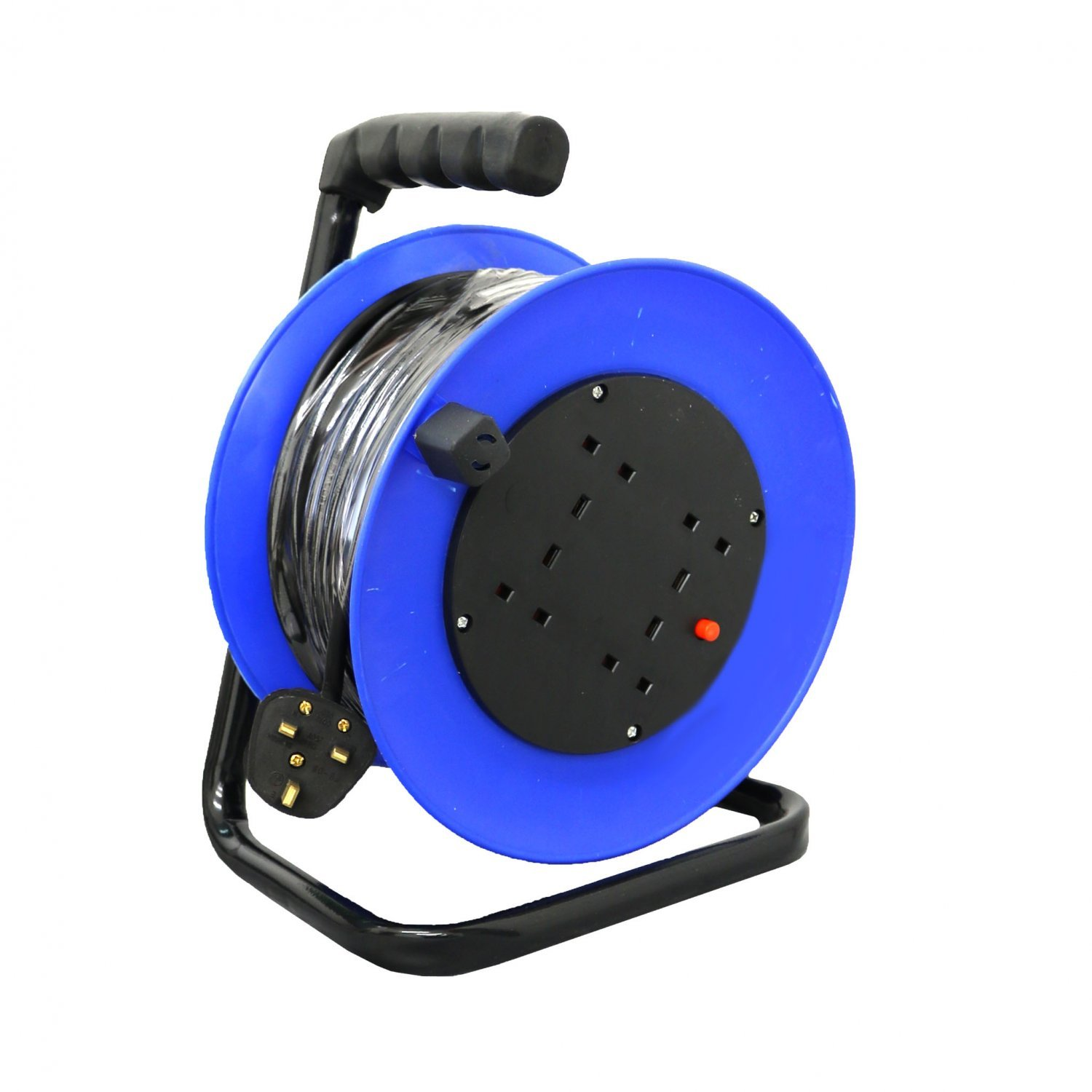 230v 25m 13a 4 Way Gang Socket Extension Cable Reel