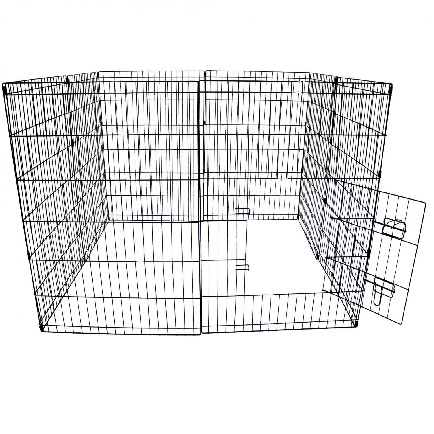 Large folding pet dog rabbit run play pen cage enclosure for Dog run cage enclosure