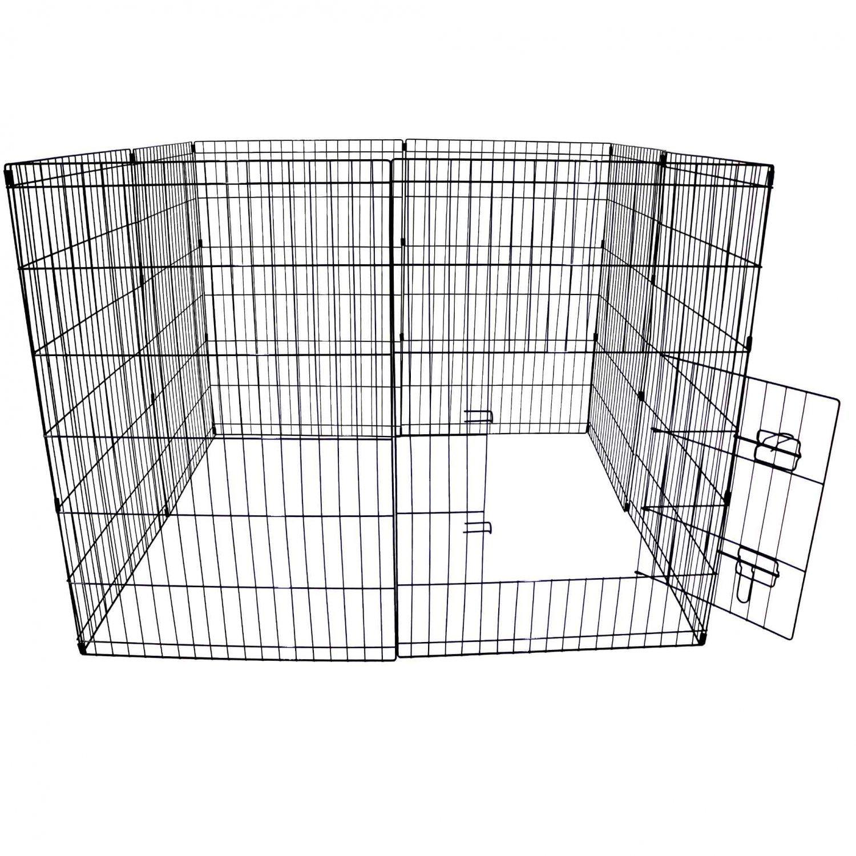 Large folding pet dog rabbit run play pen cage enclosure for Dog run cage enclosure