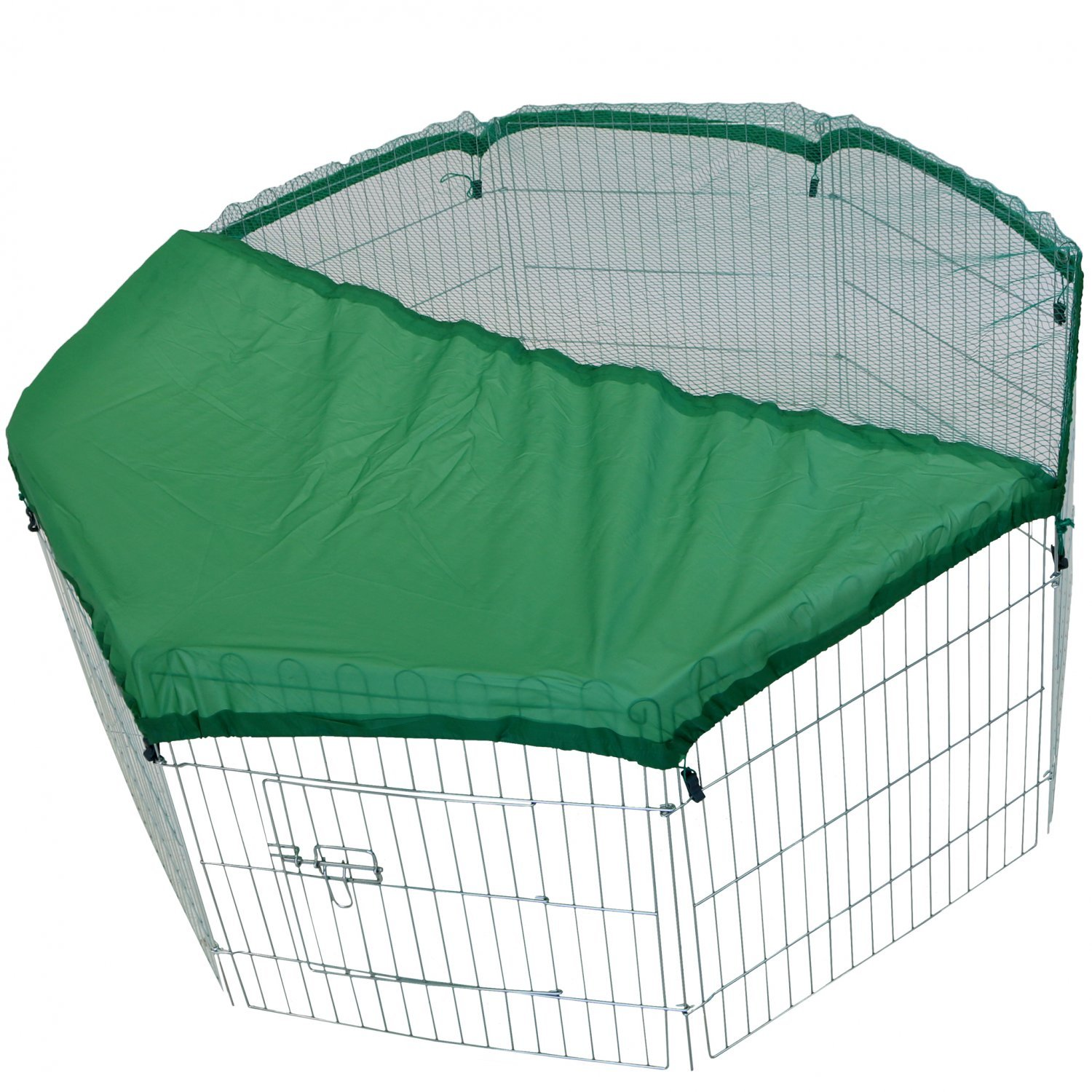 8 Panel Outdoor Rabbit Play Pen Run With Shade Safety Net