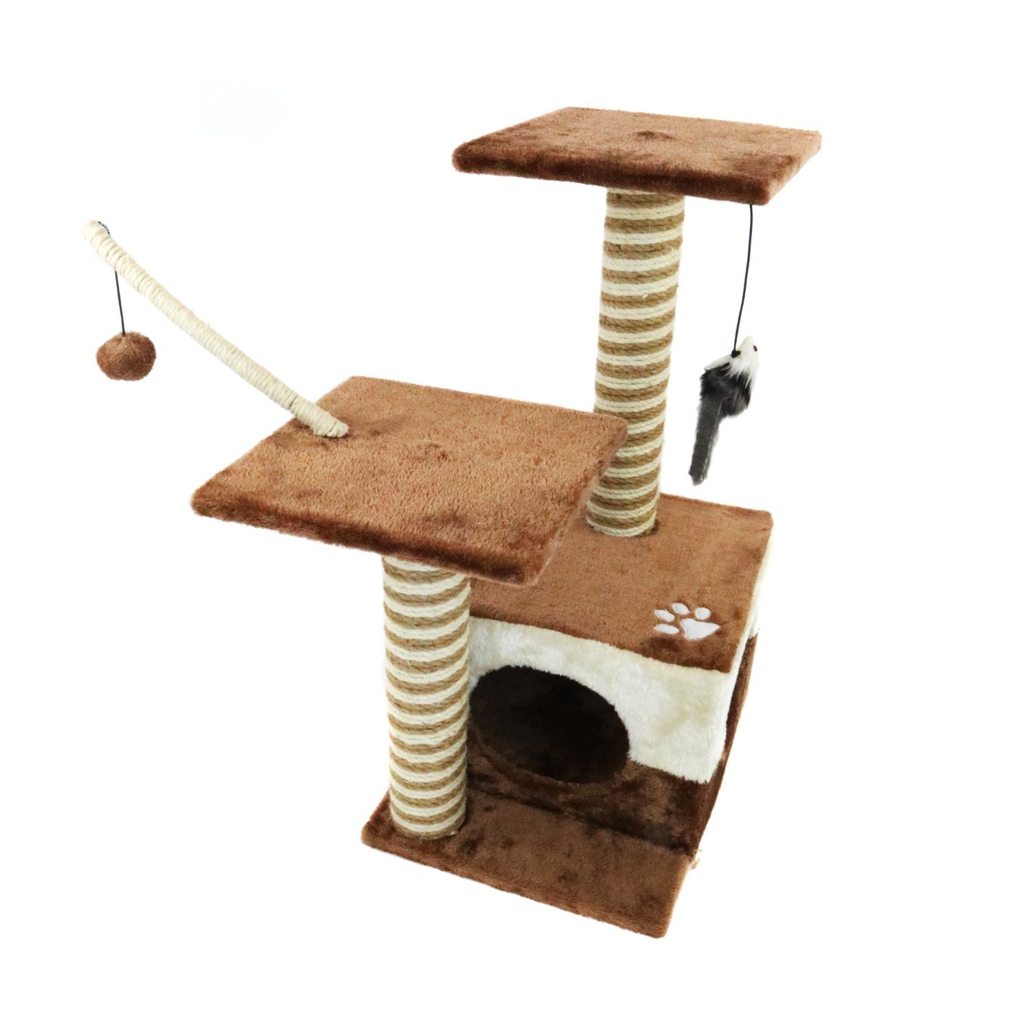 Cat Tree Scratch Post Activity Centre Bed Cave Kitten 2499