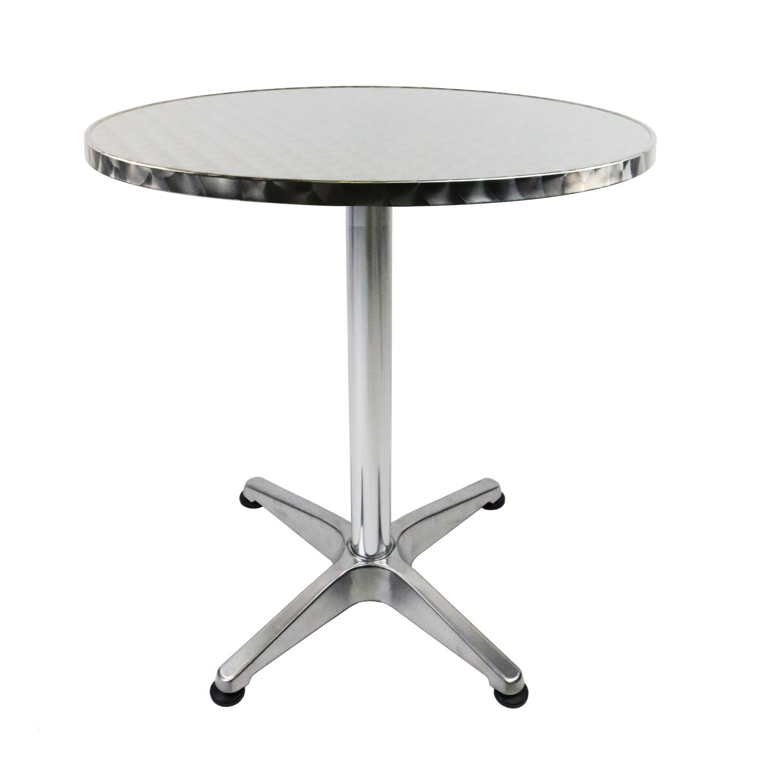 aluminium bistro table bar pub cafe party adjustable height oypla stocking the. Black Bedroom Furniture Sets. Home Design Ideas