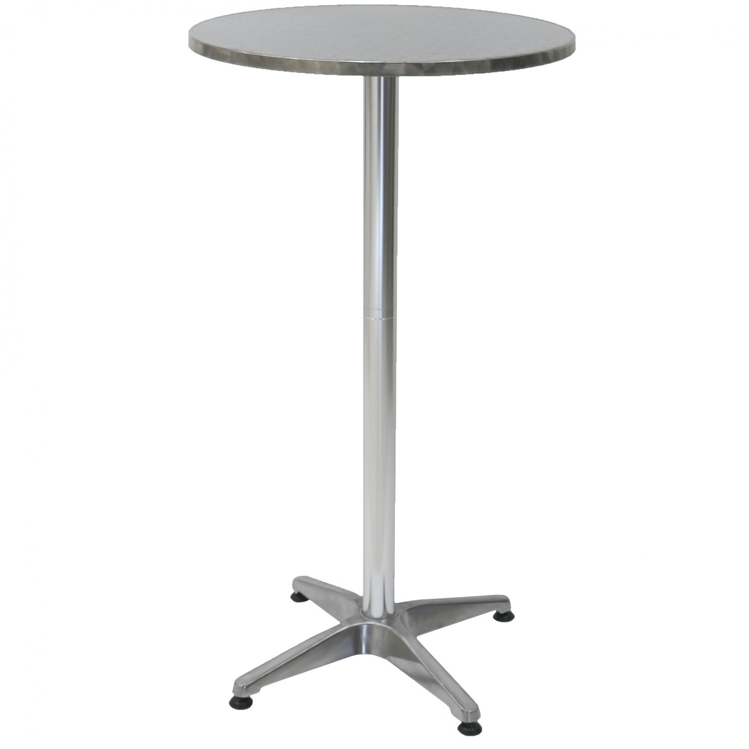 1 1m Aluminium Bistro Table Bar Pub Cafe Party Adjustable