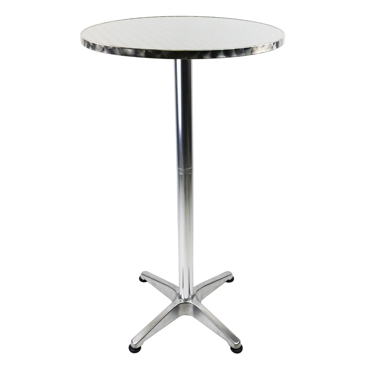 Aluminium bistro table bar pub cafe party adjustable for Table exterieur 1m