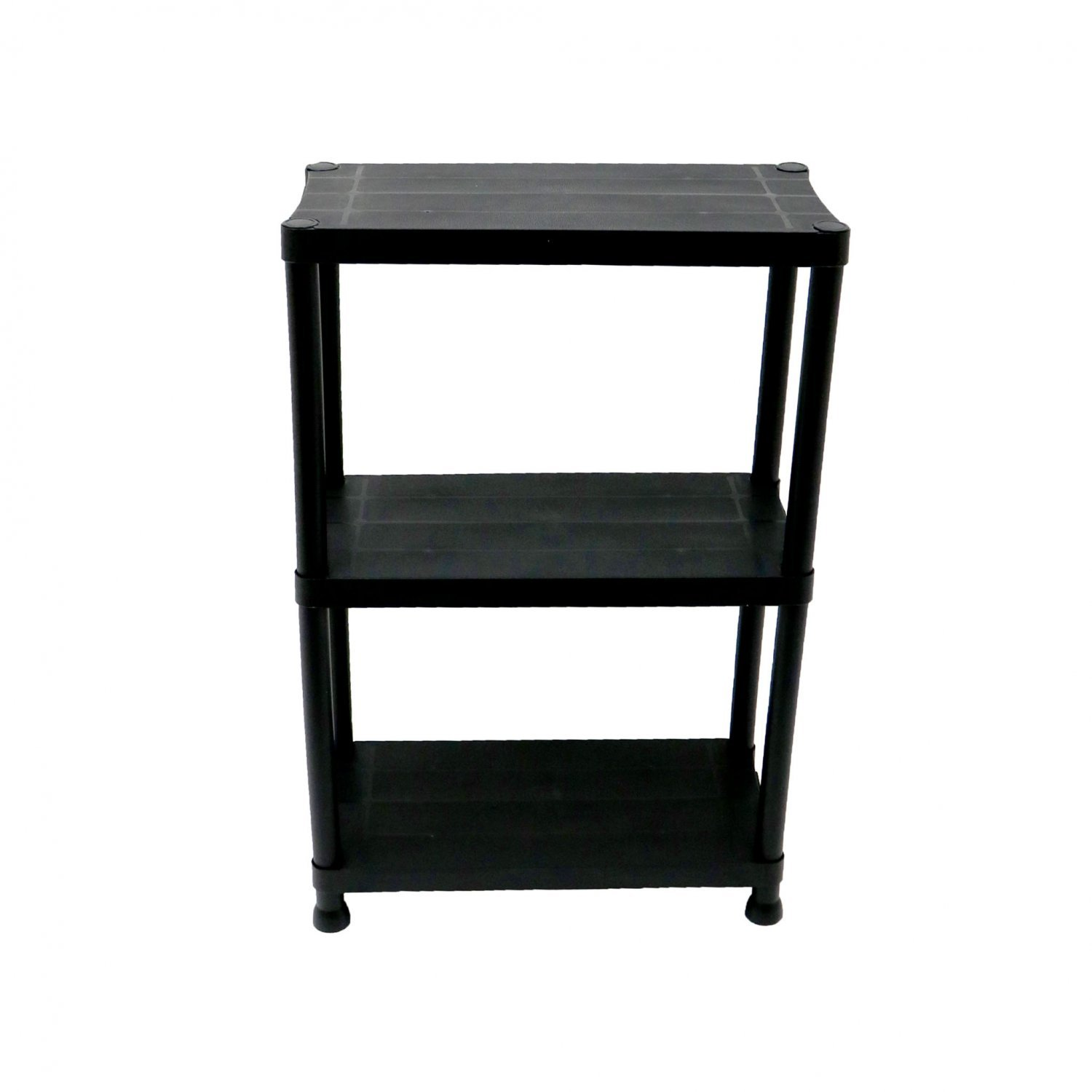3 tier black plastic heavy duty shelving racking storage unit oypla stocking the. Black Bedroom Furniture Sets. Home Design Ideas