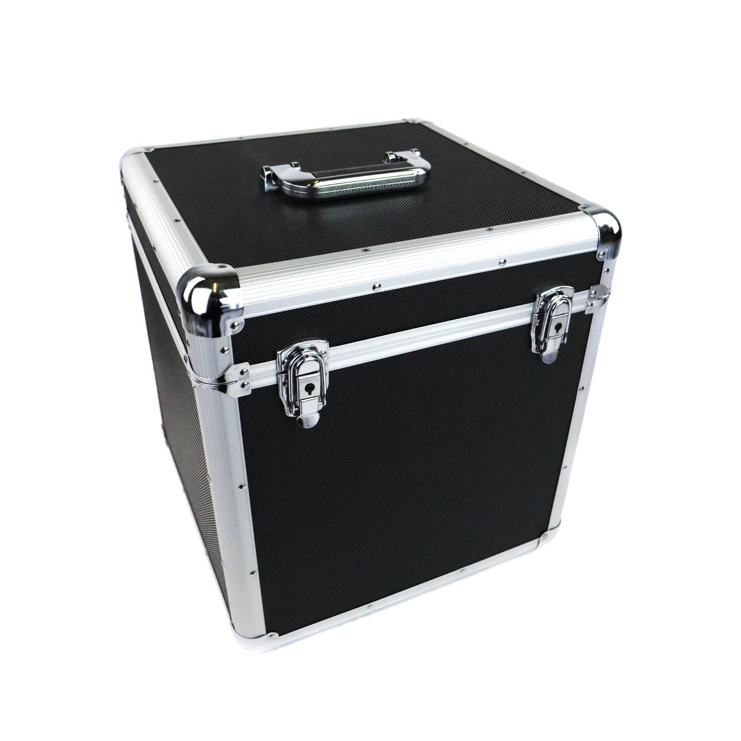 100 X 12 Lp Vinyl Record Box Hard Dj Flight Case Aluminium