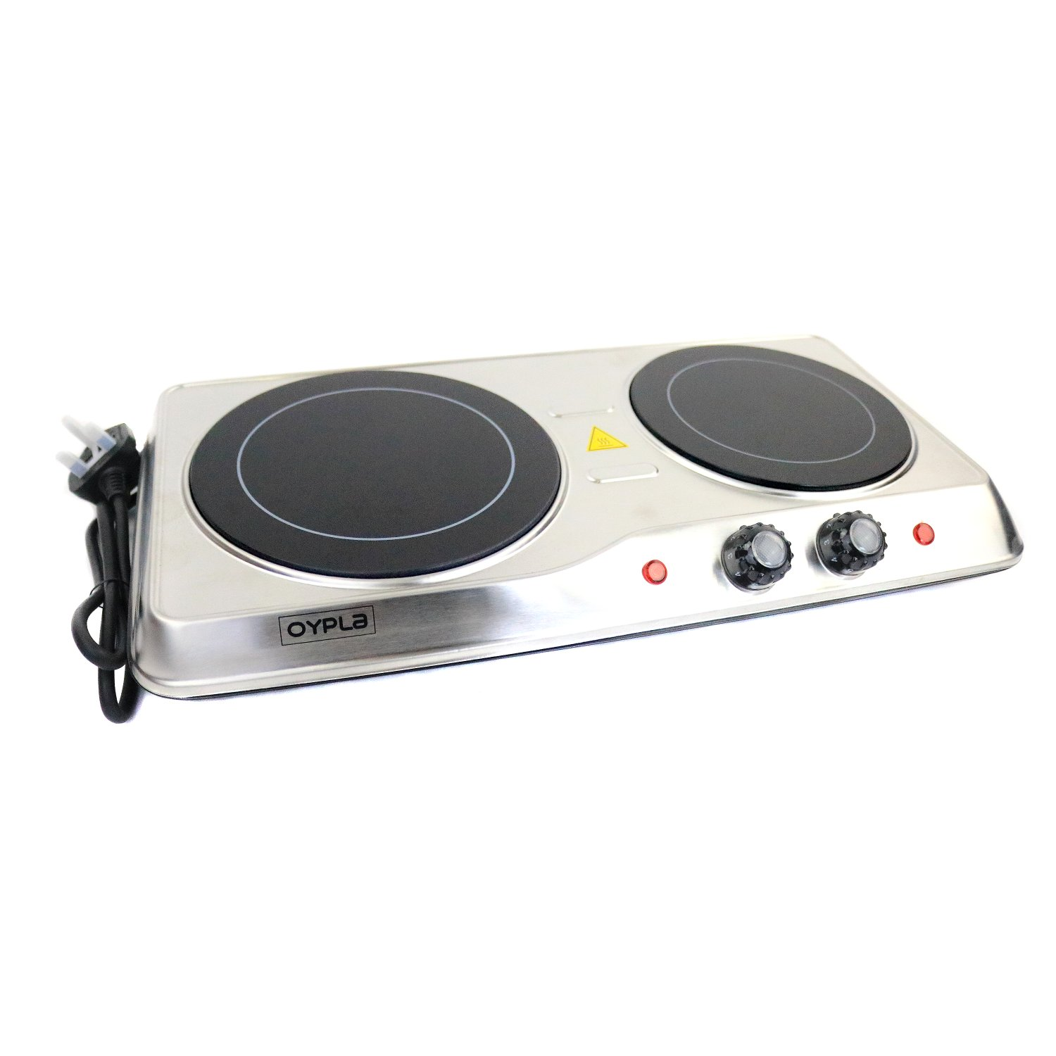 Portable Kitchen Hob ~ W ceramic portable infrared electric double hot plate