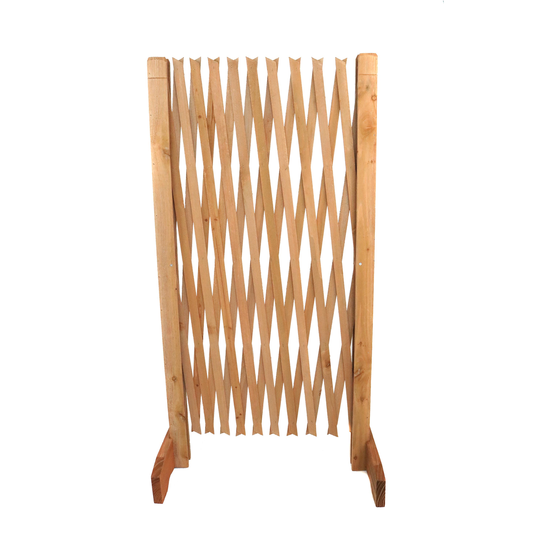 Expanding Freestanding Wooden Trellis Fence Garden Screen