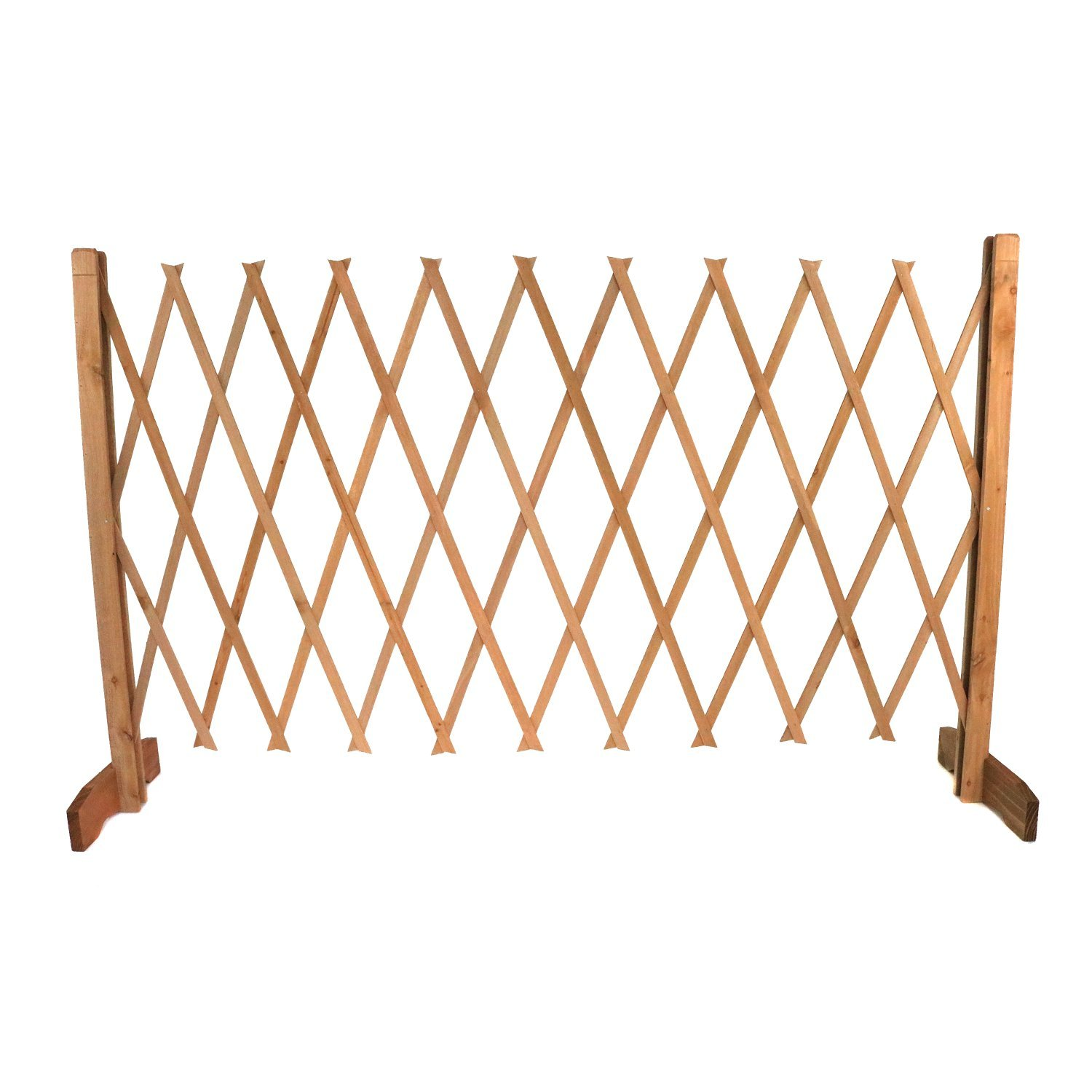 Expanding Freestanding Wooden Trellis Fence Garden Screen