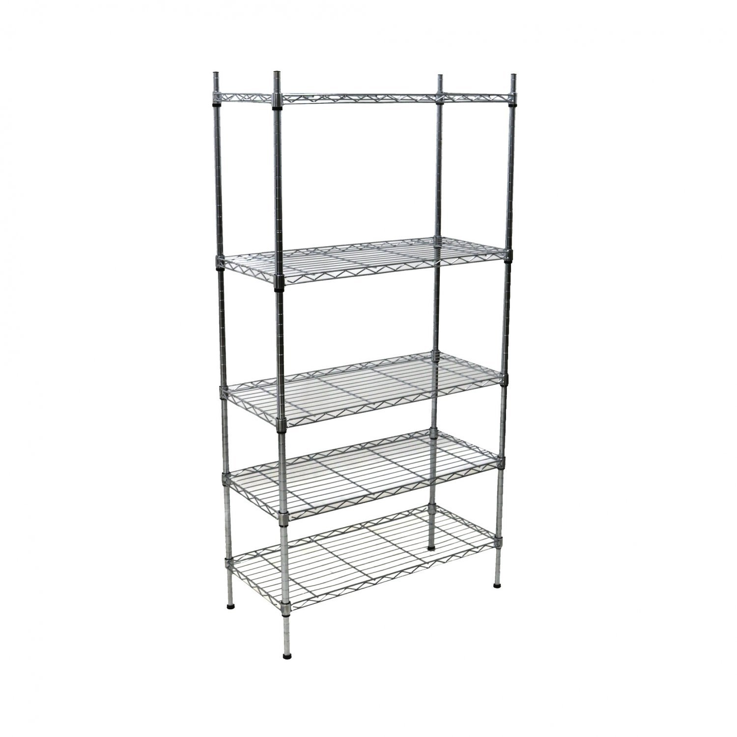 steel storage rack 5 tier heavy duty steel wire rack shelf storage shelving 26780